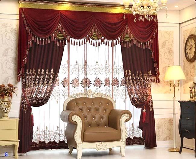 Chất liệu nhung gấm sử dụng may rèm vải mang lại cảm giác mềm mại quý phái cho căn phòng