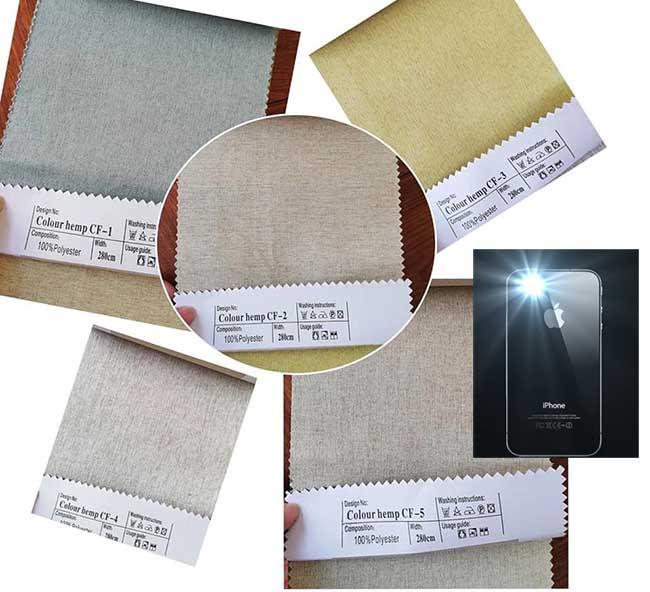 Kiểm tra mức độ chống nắng rèm cửa bằng đèn flash