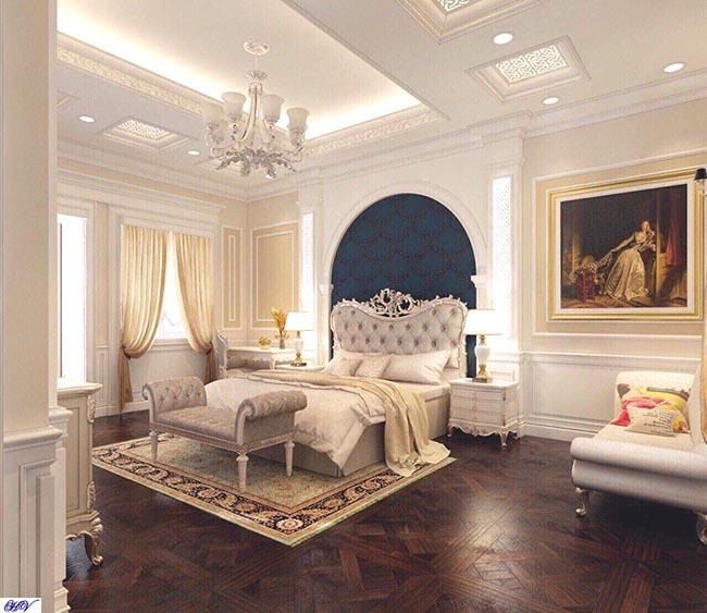 Mẫu rèm cửa làm điểm nhấn cho căn phòng nội thất màu trắng sáng