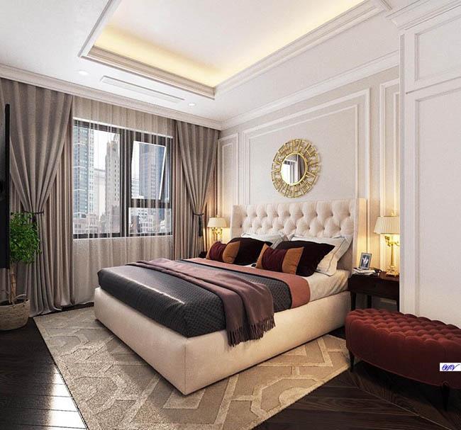 Mẫu rèm màu xám giúp căn hộ cao cấp có thêm thoáng và rộng hơn