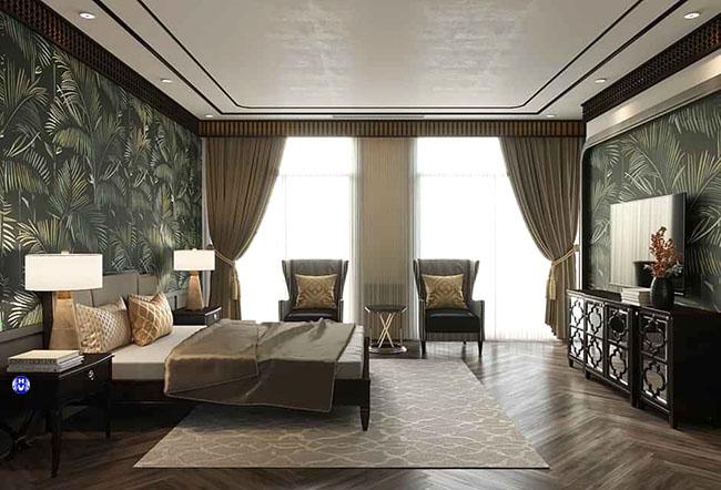 Mẫu rèm phòng ngủ đẹp 2 lớp giúp điều tiết ánh sáng theo ý muốn