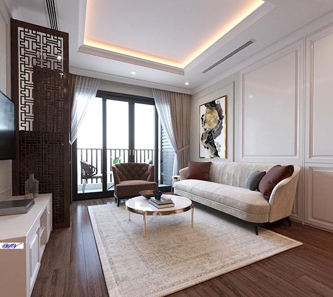 Mẫu rèm thiết kế đơn giản đầy hấp dẫn người nhìn tăng giá trị phòng khách