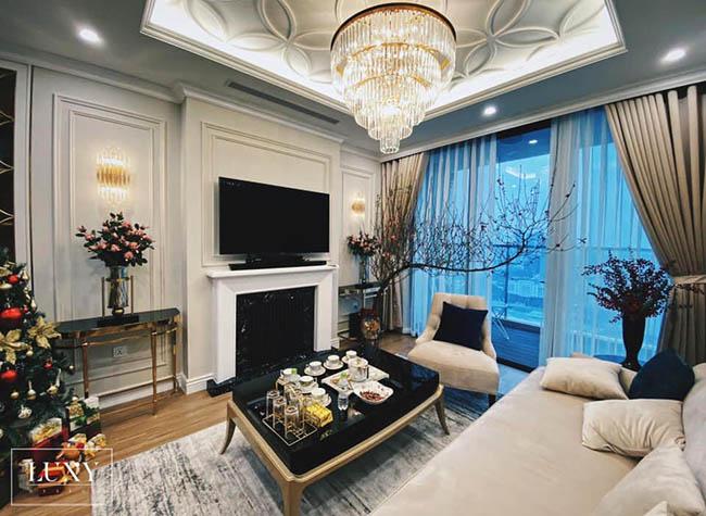 Mẫu rèm vải 2 lớp được yêu thích bởi các khách hàng sống tại chung cư sang trọng
