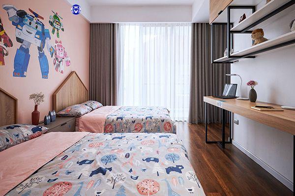 Mẫu rèm vải phòng ngủ chung cư dành cho các bé