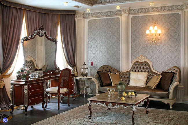 Màu sắc chất liệu vải may rèm được tính toán chi tiết theo bối cảnh căn phòng