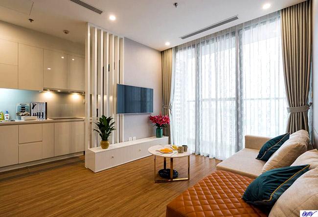 Một trong các mẫu rèm cửa Hải Vân lắp đặt cho chung cư