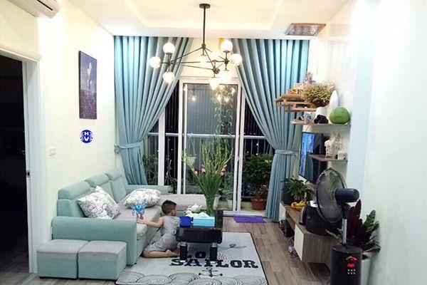 Rèm cửa 1 lớp vải cho phòng khách chung cư diện tích nhỏ