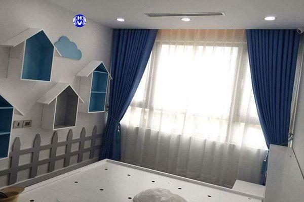 Rèm cửa 2 lớp chống nắng cách nhiệt cửa sổ phòng ngủ