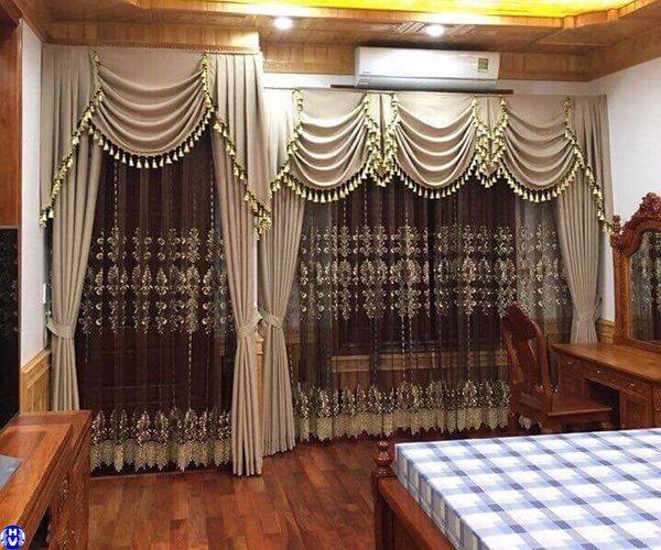 Rèm cửa cao cấp giúp phòng ngủ biệt thự sang trọng đẳng cấp