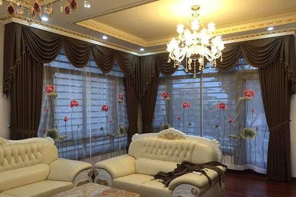 Rèm cửa hiện đại theo phong cách nội thất tân cổ điển