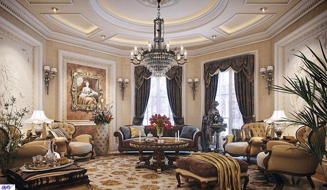 Các mẫu rèm một phần không thể thiếu trong nội thất biệt thự