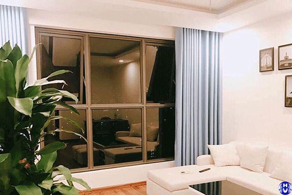 Rèm cửa sổ vải lụa mềm mại một màu