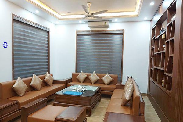 Rèm cuốn cầu vồng nhập Hàn Quốc lắp cửa sổ phòng khách biệt thự