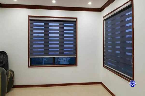 Rèm cuốn cầu vồng nhập khẩu hiện đại trẻ trung lắp cửa sổ
