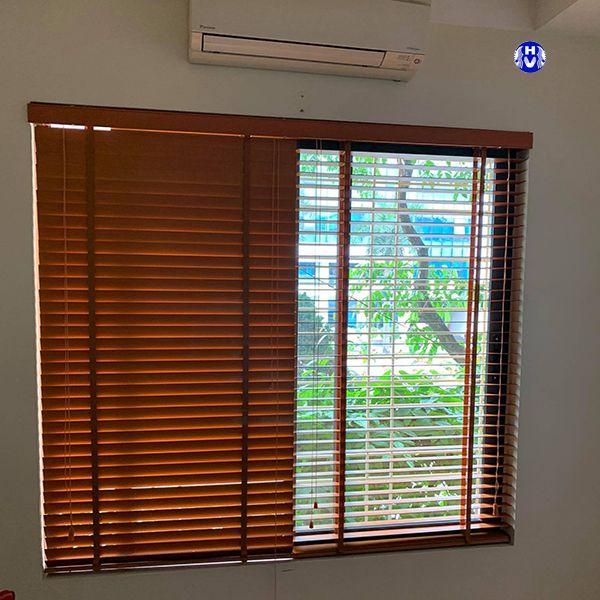 Rèm gỗ tự nhiên chống nắng phòng ngủ thân thiện với con người