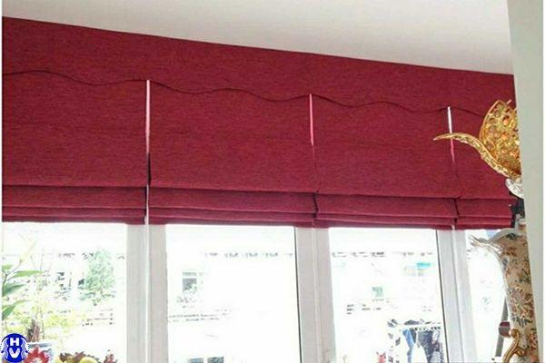 Rèm roman màu hồng giá rẻ lắp cửa sổ
