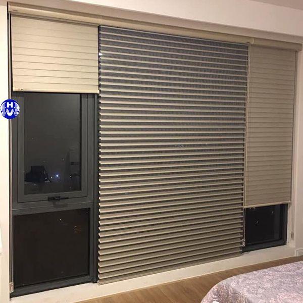 Rèm sáo nhôm lắp cửa sổ phòng ngủ chung cư chống tia uv