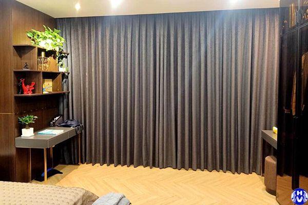 Rèm vải cao cấp 1 lớp che nắn cản nhiệt phòng ngủ biệt thự
