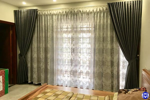 Rèm vải cửa sổ phòng ngủ che chắn riêng tư