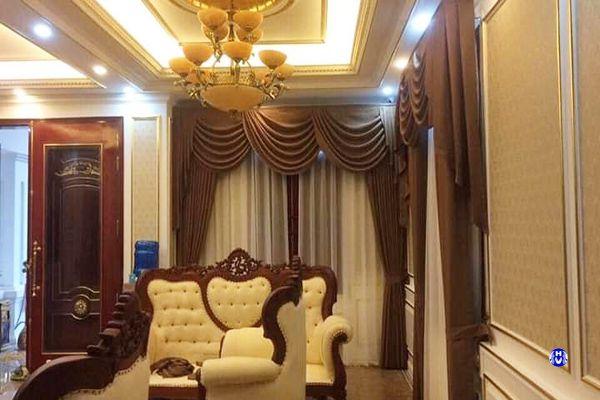 Rèm vải phòng khách hiện đại phong cách tân cổ điển sang trọng