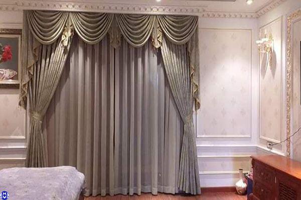 Rèm vải phòng ngủ hiện đại phong cách nội thất Châu Âu