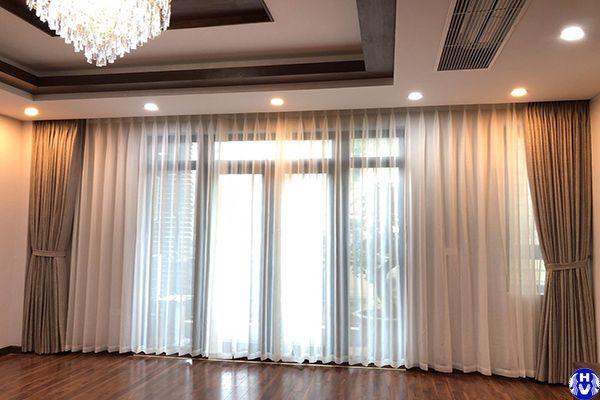 Rèm vải tự động hiện đại phòng ngủ điều khiển từ xa