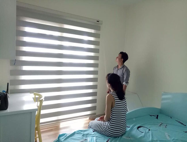 Từng ánh nắng đều được điều tiết vừa đủ cho phòng ngủ