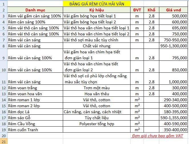Giá rèm cửa sổ Hải Vân