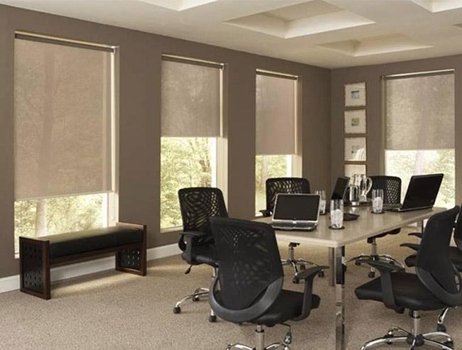 Mẫu rèm cửa phòng họp giảm bớt ánh nắng ban ngày