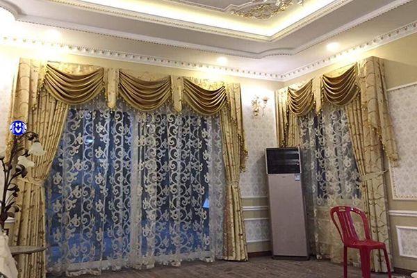 Mẫu rèm cửa phòng ngủ phần yếm thiết kế tân cổ điển phong cách châu âu