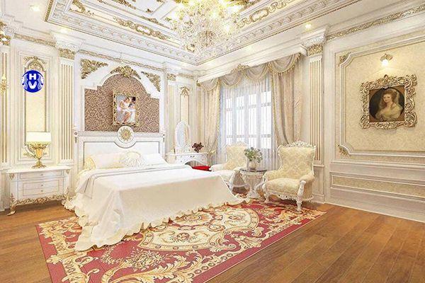 Mẫu rèm cửa sổ phòng ngủ yếm nữ hoàng phong cách tân cổ điển