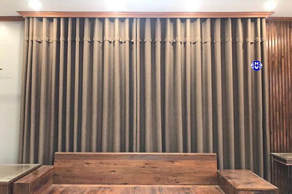 Mẫu rèm vải 2 lớp may cổ điển kiểu dáng ore