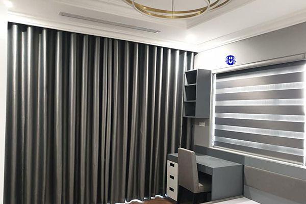 Mẫu rèm vải cao cấp lắp đặt chung cư nhà khách hàng Hà Nội