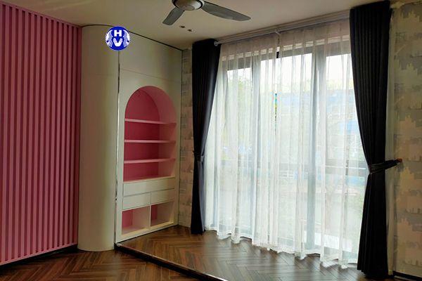 Mẫu rèm vải oze cửa sổ phòng ngủ giá rẻ