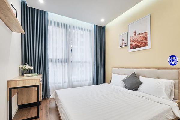 Những gam màu nhẹ nhàng rất được ưa thích trong quá trình chọn rèm vải phòng ngủ
