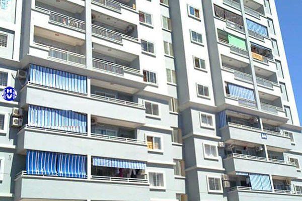 Rèm bạt ban công cách nhiệt cho chung cư từ bên ngoài