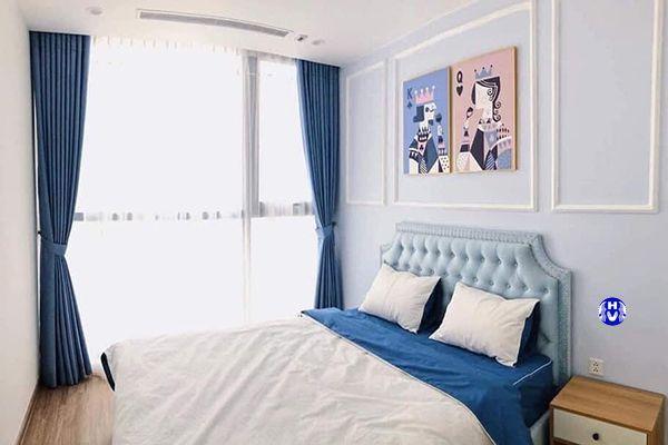Rèm cửa sổ phòng ngủ chung cư đơn giản sang trọng