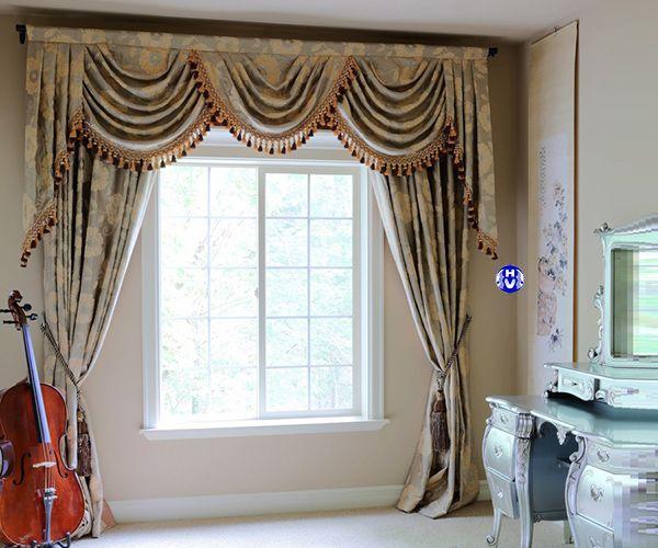 Rèm cửa sổ tân cổ điển thiết kế cho khách sạn cao cấp