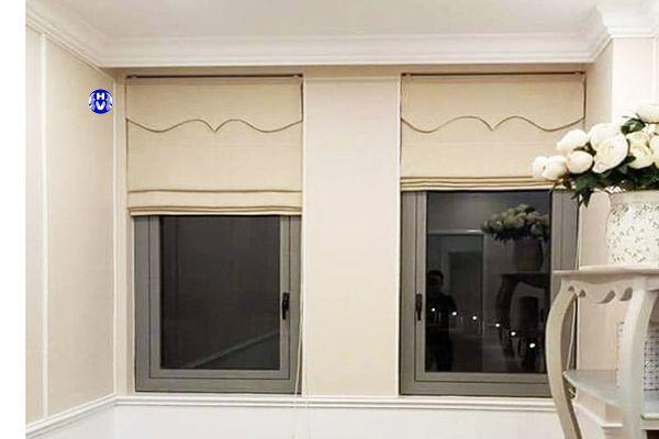 Rèm roman xếp lớp kéo dây cửa sổ nhỏ phòng ngủ