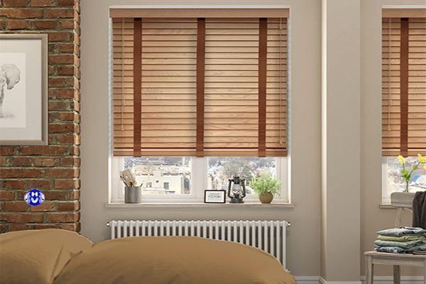 Rèm sáo gỗ ngăn tia cực tím hiệu quả phòng ngủ