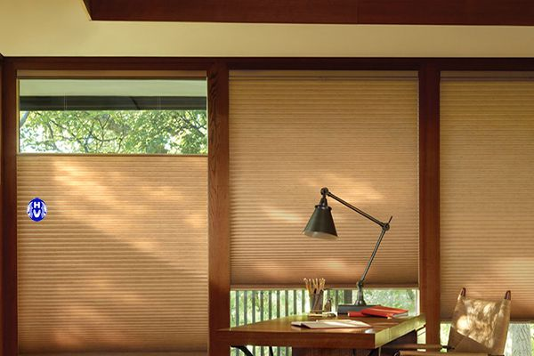 Rèm tổ ong tự động chống nắng hiệu quả phòng khách