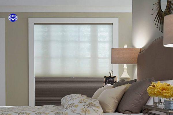 Rèm tổ ong tự động chống nắng hiệu quả phòng ngủ
