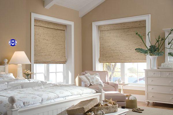 Rèm vải roman cho phòng ngủ tân cổ điển