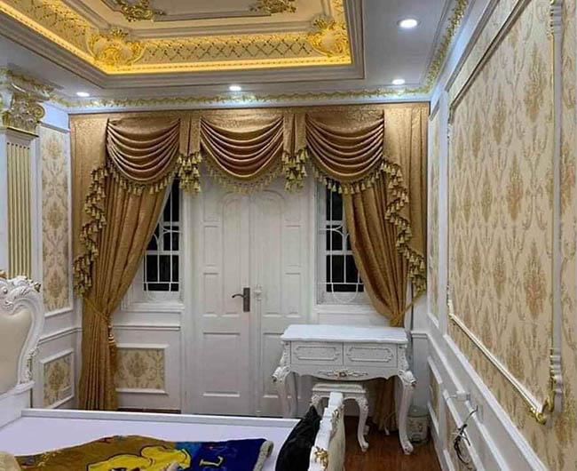 Thiết kế tinh xảo càng làm bộ rèm cửa tân cổ điển sức hút hơn