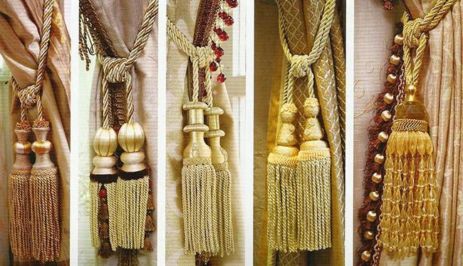 phụ kiện đai vén được chăm chút cầu kỳ tăng vẻ đẹp cho tấm rèm
