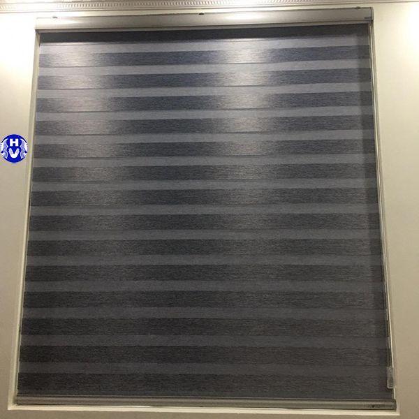 rèm cuốn cầu vồng Hàn Quốc màu xám lắp chung cư