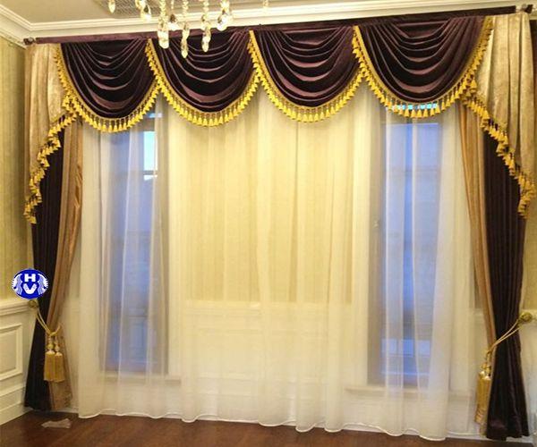 Mẫu rèm vải cao cấp silion cách nhiệt lắp biệt thự Hà Nội