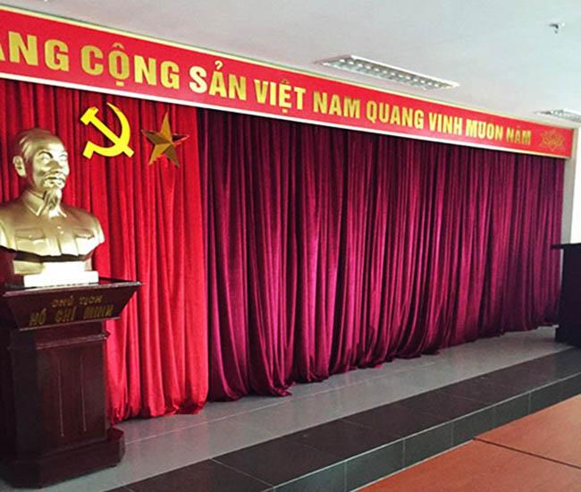 Mẫu phông rèm sân khấu thiết kế bởi Hải Vân cho nhiều cơ quan đơn vị