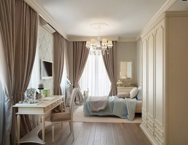 Màu rèm cửa tôn vinh những vật dụng nội thất có trong căn phòng