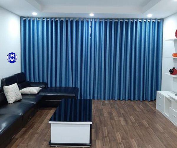 Mẫu rèm cửa xanh ngọc phòng khách được yêu thích